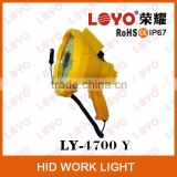 "Yellow 9"" 35w 55w protable HID searchlight, outdoor search light, HID 12V Hunting search light"