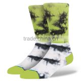 2014 Hot Selling Fashion Design China Socks Factory OEM Comfortable Cotton Blend Men Sublimation Tie Dye Socks