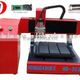 Mini Advertising CNC Wood Engraving Machine HD-3036(PVC, ABS, Double-Color board, MDF, Organic glass, plastic etc)