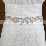 31.5*4.5cm 20pcs Bow Rhinestone Trim Wedding Dress Sash