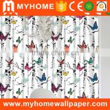 2016 New Country Style Natural Beautiful Butterfly Tree Decorative Design Wall Paper Cheap Wholesale Wallpaper Home Decoration                                                                         Quality Choice