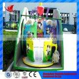 Best quality amusement park carnival trailer mounted teacup rides for children