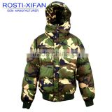 Windproof Padded Down Like Camo Military Jacket Hooded Boy Winter Outdoor Clothing