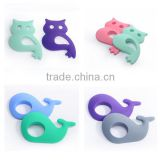 2016 Whale Shaped Owl Shaped Donut Teether Rubber Teething Toys Animals Funny Charming Toys