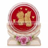 crystal paper weight inside marriage design selling in cheap price