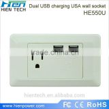 European extension wall socket and multi power outlet usb 2.1A for USB device