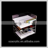 High transparent practical office maganize holder table top A4 document holder