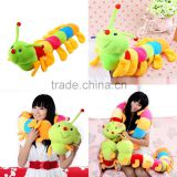 Colorful Inchworm Soft Lovely Caterpillar Pillow Plush Developmental Baby Toy