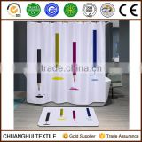 polyester digital printing pencil shower curtain for school