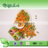 Bulk canned mixed vegetables with carrot and green peas