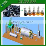 Semi-continuous high oil yield waste tire/rubber/plastic reycling pyrolysis plant to crude oil for sale