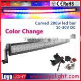 288W 50inch rgb led bar light halo with bluetooth remotes
