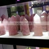 Wholesale large rose quartz crystal point/wand for decoration