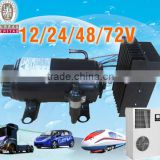 Auto ac compressor 12/24v dc compressor for electric mini-van electric car cabin air conditioner
