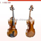 Fashion size :4/4,1/4,1/2 solid spruce maple solid shouldering with case,bow&rosin violin