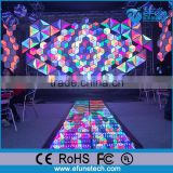 diy art design 3d effect led triangle light disco/nightclub wall panels decorative interior