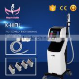 Back Tightening 4 Tips HIFU Machine!!! Removal Double Chins/Cellulite Reduction HIFU Machine For Sale High Intensity Focused Ultrasound