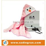 Hooded Bath Towel for Babies and Kids by Panda and Penguin/100% Terry Cotton/Warm/Absorbent and Cute