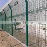 lowest price powder coated 3D Nylofor panel wire fencing / Polyester coated welded panel/ wire mesh panel fencing direct factory