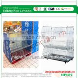store retail display rack metal wire promotion stackable basket for cage storage with wheels