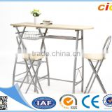 3 PCS kitchen wooden dining table and chairs set