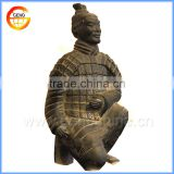 standing gray life size garden statues of terracotta warrior replica for home and garden decoration
