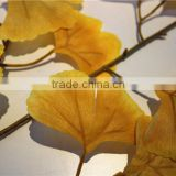 Home and outdoor garden table wedding christmas decoration 60cm or 2ft Height artificial colorfully ginkgo leaf E06 0678