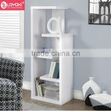 Living room wood modern Book store Shelves living room book storage 4 tier wood display bookcase