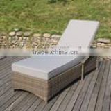 fancy outdoor rattan lounge with cushion
