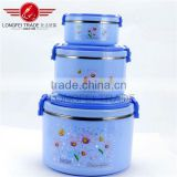 New Item Plastic Tiffin Lunch Box set / PP+ Stainless Steel Food Container Of Different Size