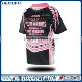 custom teenager school team rugby shirt sublimation rugby jersey