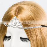 Factory sales directly bride hair jewelry high end zinc alloy bride headbands Fashion crown design bride rubber band