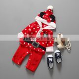 Boutique Merry Christmas Baby Outfits Kids long sleeve Cute Cotton Xmas Tree Santa Party Mickey cartoon Dresses for Girls