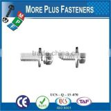 Taiwan JIS B1187 M3 M12 M3-0.5 x 8mm Phillips Pan Head Zinc Finish Steel Square Conical Washer SEMS Machine Screw