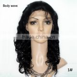 Wholesale Virign Brazilian Frontal Lace Human Hair Wig Black Rose Wavy Customized Full Lace Wigs