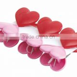 heart shaped plastic clips,high quality plastic pegs