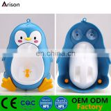 Factory creative penguin potty wall-mounted piss training urinal boys' cartoon urinal