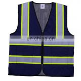 good quality high visibility fluorescent securite routere blue color reflective road safety vest