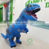 HI high quality water proof woven dacron 210cm professional adult dinosaur inflatable t-rex costume