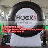 PVC inflatable tire with logos for outdoors promotion