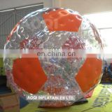 colorful double layer inflatable water roller ball