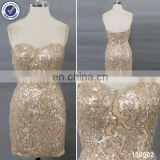 2014 Sexy shiny gold club dress for women