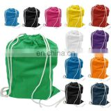 Chinese factory customized Reusable eco cotton drawstring bag