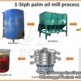 Small scale palm oil processing machine with capacity 1-5tph