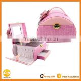 Luxury Pink jewelry box with drawers/key lock,luxury jewelry gift boxes,multi-drawer jewelry box
