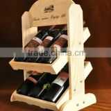 6 bottle wine rack wood wine bottle holder wholesale wine display stand red wine bottle carrier