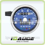 60mm Blue Face White LED Mechanical Motorcycle Speedometer Gauge with indicator lights