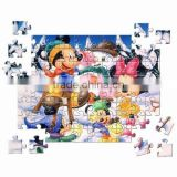 Eco-friendly high quality children A5 paper magnetic jigsaw puzzle