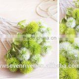 Pure and fresh Dandelion hydrangea High simulation green flower Single branch artificial flowers flower arranging flowers decora