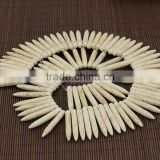TB0491 40mm White Spikes Needle Stick Spike Beads ,Long Howlite Turquoise Beads ,DIY Boho Tribal Jewelry Supplies